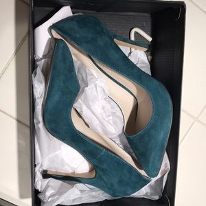 "Sz 7.5 classic pump, Teal heels! New in Box! 3.5"""